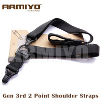 Wholesale green airsoft guns - Armiyo Tactical Gen 3rd Shoulder Strap Airsoft Mission Sling Black Dark Earth Green CP ACU 5 Colours Hunting Gun Accessories