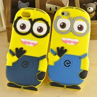 3D méprisable Me 2 étui souple en silicone plus de minions pour iPhone 4 4S 5 5S 5C 6 7 PLUS galaxie Samsung S3 S4 S5 S6