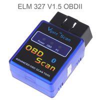 Wholesale wireless obd2 - Universal Mini ELM327 V1.5 Bluetooth Wireless OBD2 Code Reader Vehicle Auto Car Diagnostic Scan Tool CEC_A01