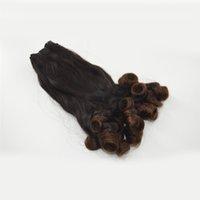 insan saçı iki renkli uzatma toptan satış-Brezilyalı İnsan Saç Uzatma ombre teyze Funmi Saç Bahar Dalga Iki Ton Renk Ombre G-EASY Saç Ürünleri