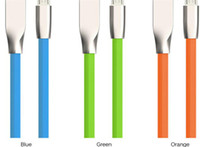 alto-falantes flat headphone venda por atacado-Micro usb cabos 1 m 3ft losango em forma de losango zinco liga plugue cabo de carregamento de dados de sincronização para android samsung s6 htc samsung