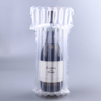Wholesale Wedding Plastic Column - Red Wine Bags Shock Proof Transparent Plastic Air Bubble Column Inflation Package Pouch Wedding Party Bag 0 66ys C R
