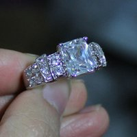 Fancy Lady's Oblong White Sapphire 10KT Filled Gold Filled Ring Size 8/9/10/11/12