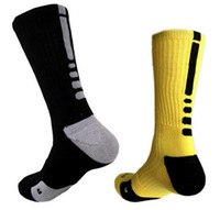 Wholesale Coolmax Cotton - 2017 Brand Outdoor Sport New Elite Cycling Socks Men Long Coolmax Basketball Soccer Socks Male Compression Athletic Socks