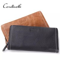 Wholesale Best Leather Handbags For Women - 5-50 Women high quality genuine cow leather wallet women tote bag high fashion leather handbag for lady best quality wallet women