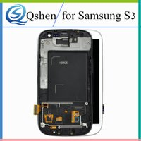 Wholesale Galaxy S3 Copy - High Copy For Samsung Galaxy S3 i9300 i9305 LCD Display Screen Full Assembly Touch Digitizer with Frame Complete