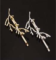 Fashion Celebrity Metal Tree Branch Forcine Oro Argento Clip di capelli per le donne Hot Bobby Pins all'ingrosso 12 pezzi