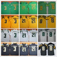 Wholesale Oregon Ducks Green - Men Marcus Mariota 8 Royce Freeman 21 Vernon Adams Jr 3 stitched Oregon Ducks College football jerseys