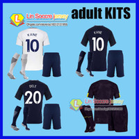 top quality 2017 2018 Adult spurs Club third soccer Jerseys kit 17 18 home  away kane totten soccer jersey man football shirt uniforms ... bc104e2ca