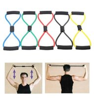 Personal Health Resistance Fitness Übungs-Bänder Yoga Pull Rope Pilates Workout Cordages Gym Home Office Muskel Brusttraining Expander