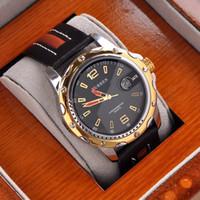 aiguilles d'horloge analogique achat en gros de-Luxe Or Hommes Analogique Robe Cadeau Date Horloge Main Curren Marque Mâle Quartz Montres M8104 Mix Modèle Drop Shipping De bbwatch