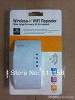 Wholesale Dhl Free Shipping Wireless Router - 100PCS DHL Free Shipping,Wifi Repeater Wireless Wifi Router Amplifier 802.11N B G Network Range Extender 300Mbps Signal Boosters 0419xx