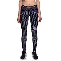 Wholesale Plus Size Mesh Leggings - New 0078 Sexy Girl GYM Fitness Yoga Pants Comics Avengers Batman Logo Mesh Prints High Waist Stretch Running Sport Women Leggings Plus Size