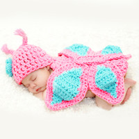Wholesale Cute Boys Photos New - New Cute Photography Photo Prop Crochet knit Baby Outfits Set For Newborn Boys and Girls