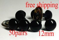 Wholesale Diy Safety Eyes - free shipping!!50pairs 12mm Black Safety Eyes ,Toy Doll Making DIY Cute Eyes For Toys
