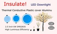 Isolare!!! Conservazione Engergy 2,5 pollici Thermal Conductive Plastic LED Downlight SMD2835 220V 6W