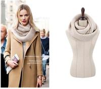ingrosso sciarpe grosse-Infinity Multicolor Unisex Chunky Knit Scarf, New Fashion Red White Soild Color Winter Knitting Infinity Ring Sciarpa Sciarpe lavorate a maglia