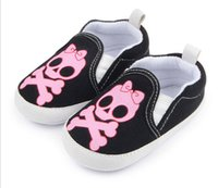 Wholesale Wholesale Skulls Shoes - Non-slip baby toddler shoes new fall elastic skull baby toddler foreign trade wholesale baby shoes toddler shoes style no.16-12