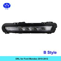Wholesale Daytime Running Lights Led Mondeo - NEW 2pcs LED Daytime Running Light Super Bright DRL Lamps Kit for FORD MONDEO 2010 2011 2012 Daylight Fog Bulbs Waterproof
