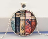 Wholesale Antiques Books - Book Necklace, Writer Necklace, Gift for Writer Teacher, Antique Book Necklace, Library Book Necklace, Book Pendant, Book Jewelry