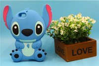 3D Cute Cartoon Baby Stitch Мягкая силиконовая резина для геля для iPhone 5 5S 6 6S Plus ZTE V6 HTC Desire 626 Huawei P8 P9 Lite SONY C5