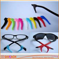 antideslizante para gafas al por mayor-1 par de silicona suave antideslizante agarre titular ganchos para orejas punta titular para deportes gafas gafas gafas de sol gafas gafas accesorios