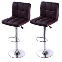 Wholesale Bar Counter Chairs - Set of 2 Bar Stool PU Leather Barstools Chair Adjustable Counter Swivel Pub New