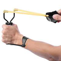 Wholesale Wrist Slingshot Hunting - Powerful Slingshot Rubber Bands Wrist Catapult Hunting Equipment Folding Wrist Sling Shot Slingshot Hunting w h Velocity +B
