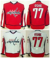 Wholesale Cheap Hockey Jerseys Washington - Top Quality ! 2016 Youth Kids Washington Capitals Ice Hockey Jerseys Cheap #77 T.J. OSHIE Red White Boys Jerseys Authentic Stitched Jerseys