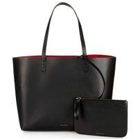 ingrosso mini tote nero-Shopper da donna Borsa tote grande Borsa a mano con tracolla nera con piccola borsa a tracolla piccola in vera pelle