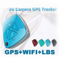 Wholesale Gps Tracker Geo Fencing - V42 5PCS 3G Camera mini GPS tracker V42 GPS+WIFI+ LBS Real time tracking GPS Tracker with Geo-fence alarm AT