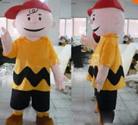 Wholesale Charlie Brown Mascot - Hot new cartoon character charlie brown mascot costume fancy dress costumes adult costume