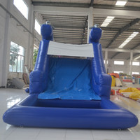 Wholesale Inflatable Climb - AOQI water park equipment classic design inflatable slide for adult and kid indoor equipment mini water slide with climbing wall