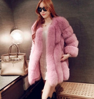 Wholesale Women Coats Cut - beautiful coats women fur coat natural long vest real fox gilet winter high quality women coat mink tail fur coat