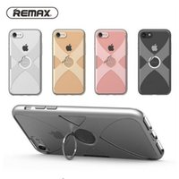 100% Original Remax para iPhone 7 7Plus TPU Case + Hard PC Frame Cool X Style 360 ​​graus Girar Metal Finger Ring Kickstand Back Cover Shell