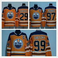 Wholesale Ads Flash - men 2017-2018 new style AD EDMONTON OILERS 97 Connor McDavid jersey 99 Wayne Gretzky 29 Leon Draisaitl Hockey Jerseys