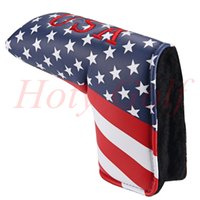 Wholesale Golf Flags - High quality 1pc GOLF USA flag head covers for golf putter cover bumper flag cover
