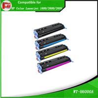 Wholesale Toner For Hp Laserjet - HP Q6000A Q6001A Q6002A Q6003A, Compatible Toner Cartridge for HP Color Laserjet 1600 2600 2605 , BK-2,500 C M Y-2,000 pages