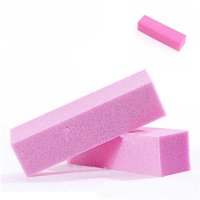 Wholesale Sponge Buffer Sanding Block - Wholesale- Soft Buffer Buffing Sanding Files Block Nail Art Tips Manicure Tool Sponge Nail File Free Shipping