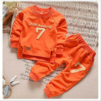 Wholesale Long Warm Sweaters For Kids - Brand KW 1-5 Autumn Children Clothing Boys Girls Keep Warm Long Sleeve Sweaters+Pants Fashion Kids Clothes Sports Suit for Girls