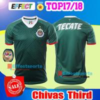 Wholesale Men New Arrive - New Arrived 17 18 Chivas de Guadalajara Third Green Football Shirt classic 2017 2018 camisetas de futebol A PULIDO 07 08 Soccer Jersey