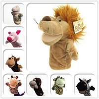 Wholesale Hand Puppet Dog Toy - Children Animal Hand Puppet Toys Classic Kawaii Children Hand Puppet Novelty Cute Dog Monkey Lion Muppet
