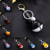 Wholesale Craft Keyrings - Craft Hangings Car Keyring Or Bag Buckle Trendy Small Cute Zinc Alloy Bells Key Chain Fashion Accessorices Gift 12 Styles D311Q