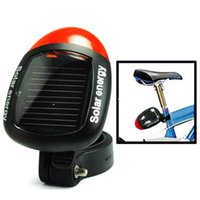 Wholesale Solar Power Bike Light - Sport MTB Cycling Tail Rear Red Light Solar Power Bike Bicycle LED Lamp Seatpost Taillight with Clamp 2505040