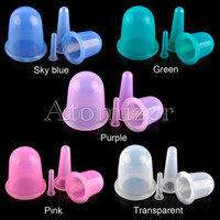 Wholesale Eye Cups Wholesale - Health Care Massager Body Anti Cellulite Silicone Vacuum Massager Cupping Cup Set Massage Relaxation for Eye Face Back Acupuncture