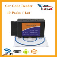 Wholesale Code Piece Audi - (10 Pieces Lot) ELM327 WIFI ELM 327 V2.1 OBD2 OBDII for Android IOS Car Code Reader Free Shipping
