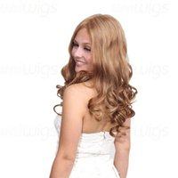 Wholesale High Quality Celebrity Wigs - Wholesale-Free Shipping High Fashion Sexy Party Wigs Sexy Women's Long Curly Wig 4FH021 Excellent Quality Human Hair Celebrity Style