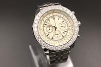 Wholesale Belt Buckle Motor - Limited Edition Quartz-Watches Men White Dial Analog Diamond Case Platinum Skeleton Stainless Steel Band Motors Casual Digital Watch