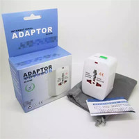 Wholesale Eu Uk Adaptors - globle all in one international adaptor for US UK EU AU charger change for all kinds with package