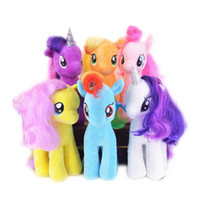 Wholesale Gift Horse Movie - Super Cute! !18cm Cartoon Kids TV Rainbow MLP Animal Little Horse Stuffed Doll Plush Toys Kids Birthday Gifts Wholesale